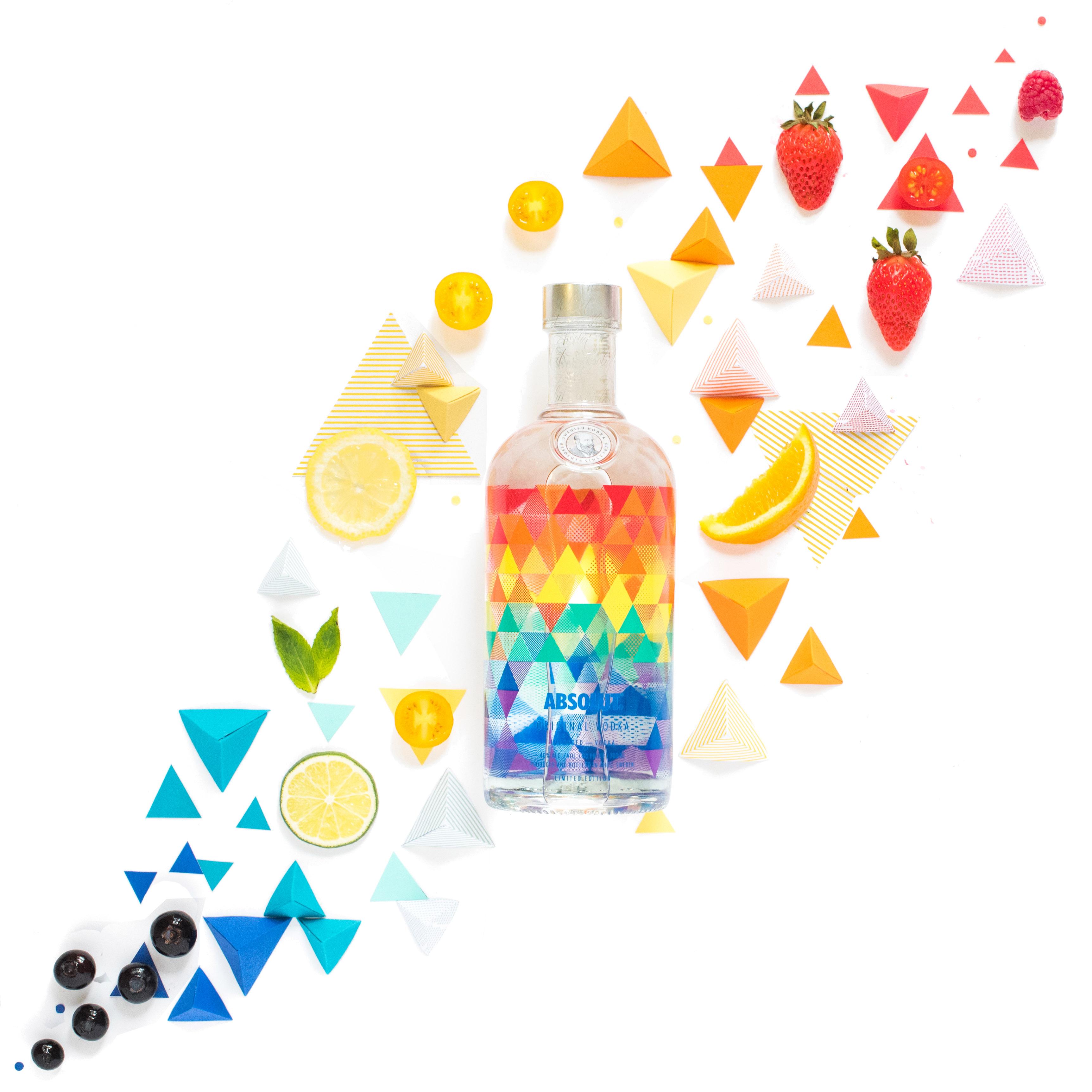 Absolut vodka sans les triangles-5 en tant qu'objet dynamique final
