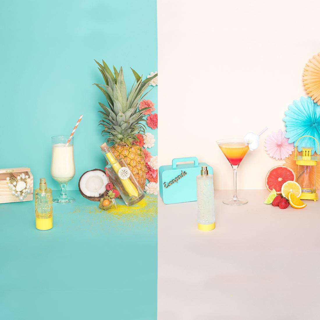 Nymphea's Factory – Pina Colada et Tequila Sunrise sans ligne carré